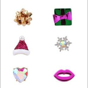Betsey Johnson Present Single Stud Earrings Set